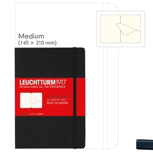Leuchtturm A5 Medium Black Plain Academy Pad