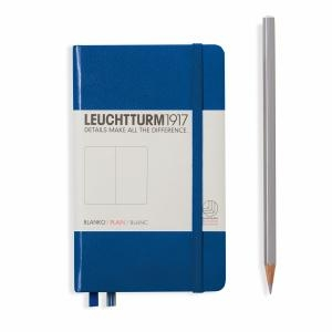 Leuchtturm A6 Pocket Royal Blue Plain Hardcover Notebook