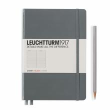 Leuchtturm A5 Medium Anthracite Ruled Hardcover Notebook