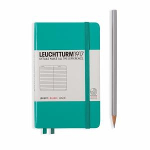 Leuchtturm A6 Pocket Emerald Ruled Hardcover Notebook