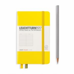 Leuchtturm A6 Pocket Lemon Ruled Hardcover Notebook