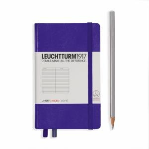 Leuchtturm A6 Pocket Purple Ruled Hardcover Notebook