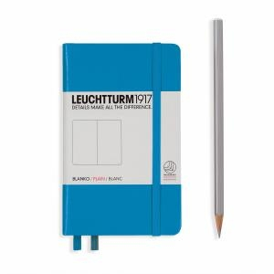 Leuchtturm A6 Pocket Plain Azure Hardcover Notebook