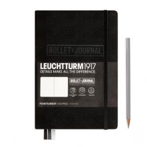 Leuchtturm Medium A5 Bullet Journal Black Dotted Hardcover Notebook