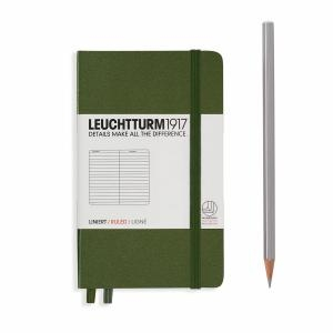 Leuchtturm A6 Pocket Army Dotted Hardcover Notebook