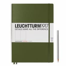 Leuchtturm A4+ Master Slim Army Dotted Hardcover Notebook