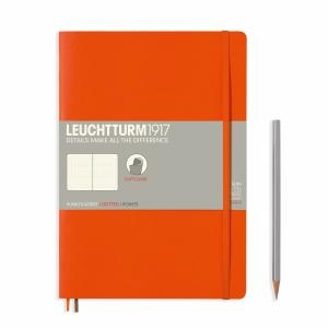 Leuchtturm B5 Orange Dotted Softcover Notebook