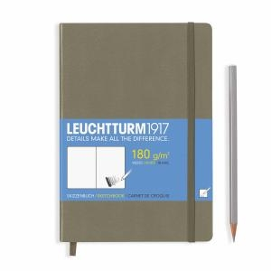 Leuchtturm A5 Sketch Book Medium Army Hardcover
