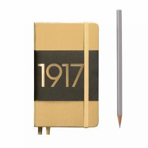 Leuchtturm A6 Pocket Gold Plain Hardcover Notebook Metallic Edition