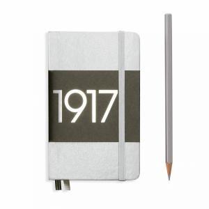 Leuchtturm A6 Pocket Silver Ruled Hardcover Notebook Metallic Edition