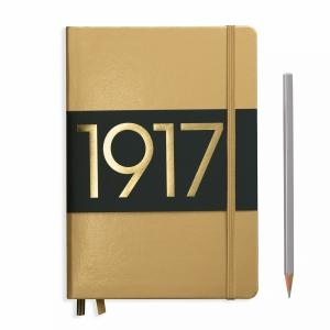 Leuchtturm A5 Medium Gold Ruled Hardcover Notebook Metallic Edition