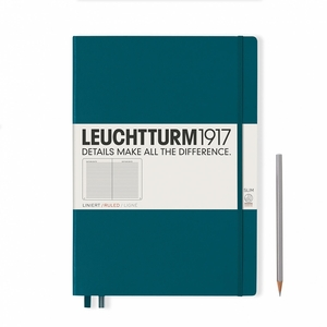 Leuchtturm A4+ Master Slim Pacific Green Dotted Hardcover Notebook
