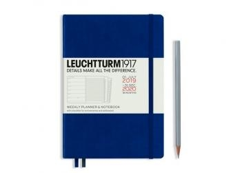 Leuchtturm weekly planner + notebook medium navy 18 maanden 2019-2020