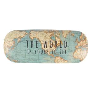 Brillenkoker RETRO vintage world map