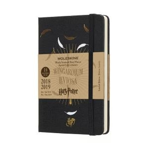 Moleskine Harry Potter Weekly Diary Notebook 18 Months 2018/2019 Pocket A6 Hard Cover Black
