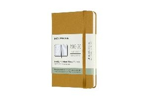 Moleskine 18 Monate Wochen Notizkalender 2019/2020 Pocket/A6, 1 Wo = 1 Seite, Liniert, Fester Einband, Reifes Gelb