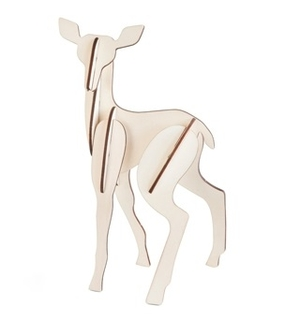 Wooden Totem Fawn
