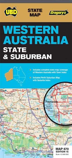 Western Australia State & Suburban Map 670 15th Ed