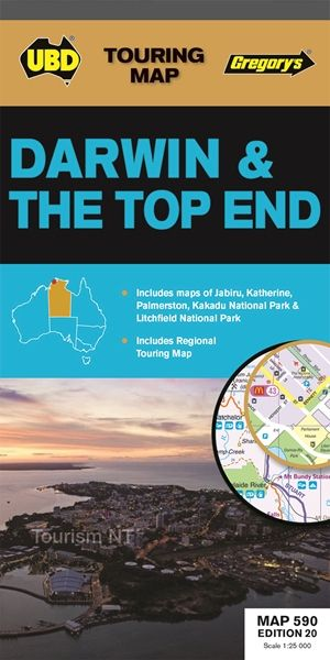 Darwin & the Top End  1 : 900 000 - 1 : 25 000