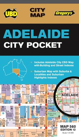 Adelaide City Pocket Map 560 12th Ed