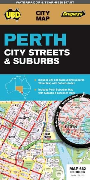 Perth City Streets & Suburbs  1 : 114 000 - 1 : 25 000