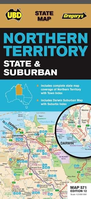 Northern Territory State & Suburban  1 : 2 000 000 - 1 : 75 000