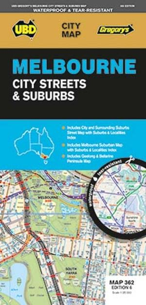 Melbourne City Streets & Suburbs  1 : 120 000 - 1 : 25 000