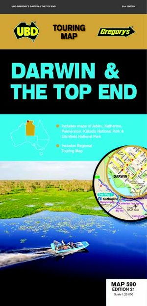 Darwin & Top End Map 590 21st Ed