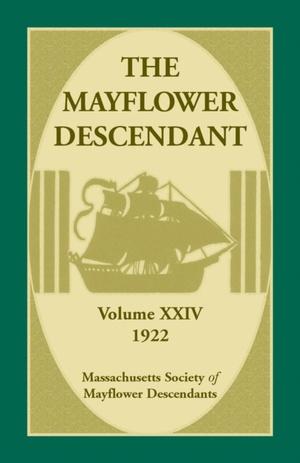 Mayflower Descendant, Volume 24, 1922