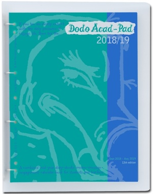 Dodo Acad-pad A4 Diary 2018-2019 Mid Year / Academic Year, Week To View C/w Binder