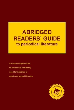 Abridged Readers' Guide To Periodical Literature, 2019 Subscription
