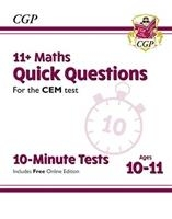 New 11+ Cem 10-minute Tests: Maths Quick Questions - Ages 10-11 (with Online Edition)