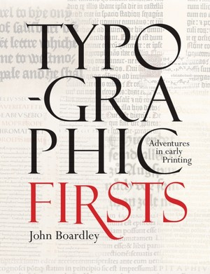 Typographic Firsts