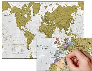 Scratch the World wandkaart