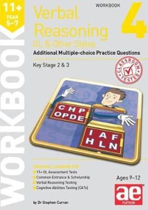 11+ Verbal Reasoning Year 5-7 Gl & Other Styles Workbook 4