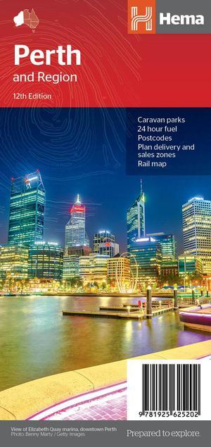 Perth + Region City Handy Map 1 : 80 000