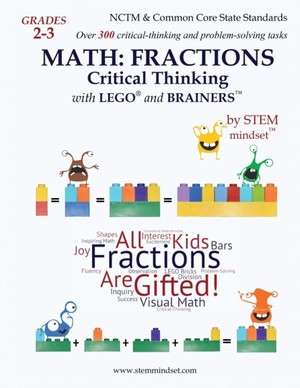 Fractions With Lego And Brainers Grades 2-3 Workbook Ages 7-9