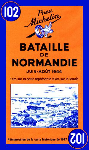 Michelin 102 Battle Of Normandy June-August 1944
