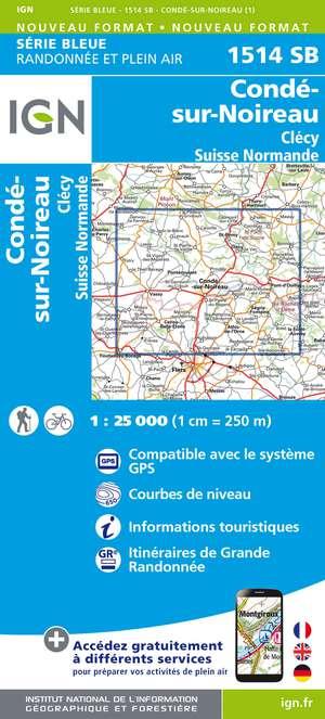 Condé-sur-Noireau.Clécy.Suisse Normande 1:25 000
