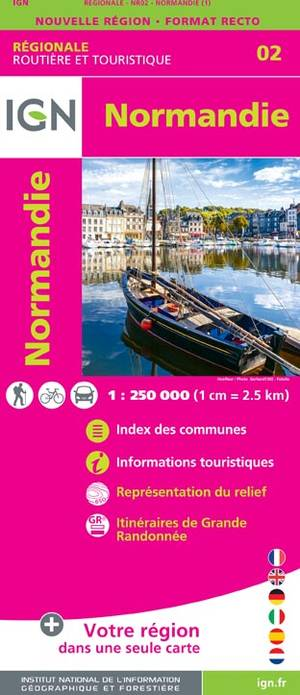 IGN Normandie 1:250 000