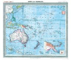 General-Karte von Australien und der Südsee, 1903 [Plano-Reprint]