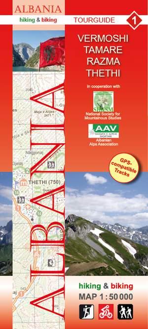 Albania hiking & biking 1:50 000 Karte 1: Vermoshi - Tamare - Razma - Thethi