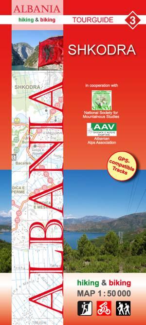 Albania hiking & biking 1:50 000 Karte 3: Shkodra