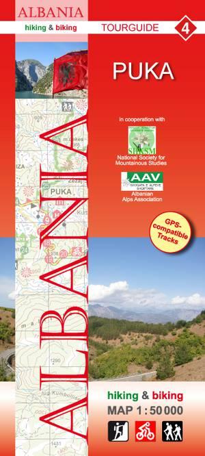Albania hiking & biking 1:50 000 Karte 4: Puka