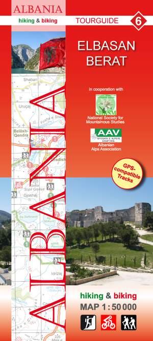 Albania hiking & biking 1:50 000 Karte 6: Elbasan - Berat
