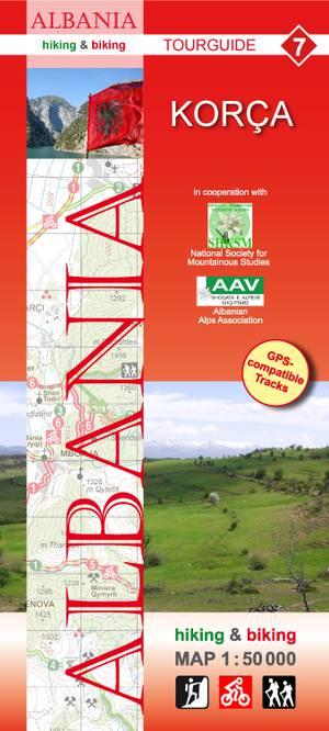 Albania hiking & biking 1:50 000 Karte 7: Korca