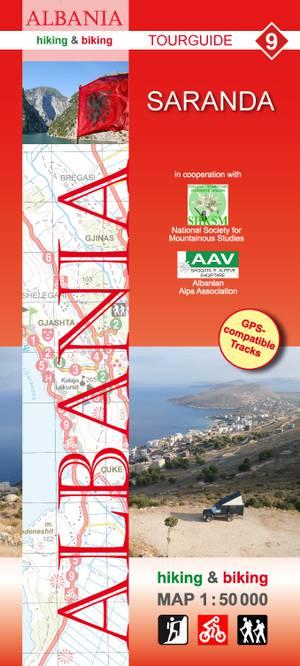 Albania hiking & biking 1:50 000 Karte 9: Saranda