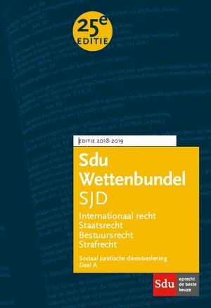 Sdu Wettenbundel Sociaal Juridische Dienstverlening 2018-2019