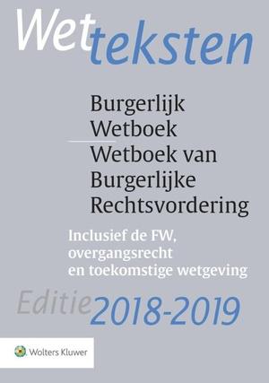 Wetteksten Burgerlijk Wetboek/Wetboek van Burgerlijke Rechtsvordering 2018-2019 - 2018/2019