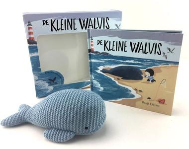 De kleine walvis met walvisknuffel